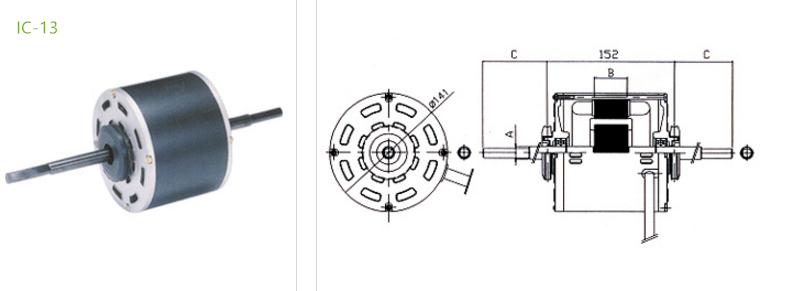 condenser fan motors IC-13 type 3