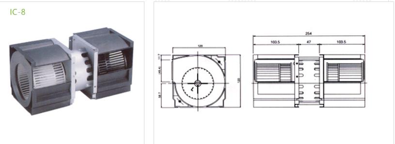 fan condenser IC-8 type 5