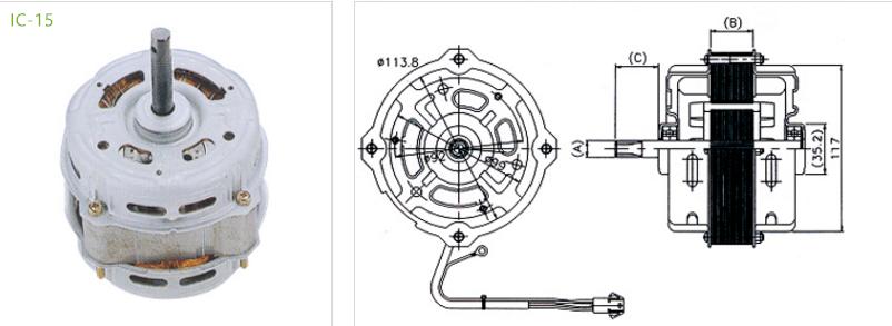 hvac condensers motor IC-15 Type 1